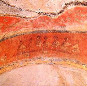 04 CATACOMBES THE GREEK CHAPEL EUCHARISTIC BA